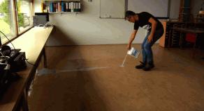 Productvideo over onderhoud en opknappen linoleum vloer